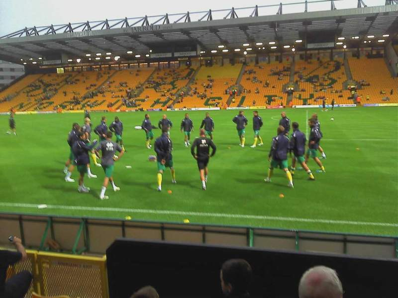 Seating view for Carrow Road Section Wensum Row D Seat 37
