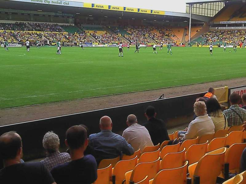 Seating view for Carrow Road Section Community stand lower tier Row G Seat 240