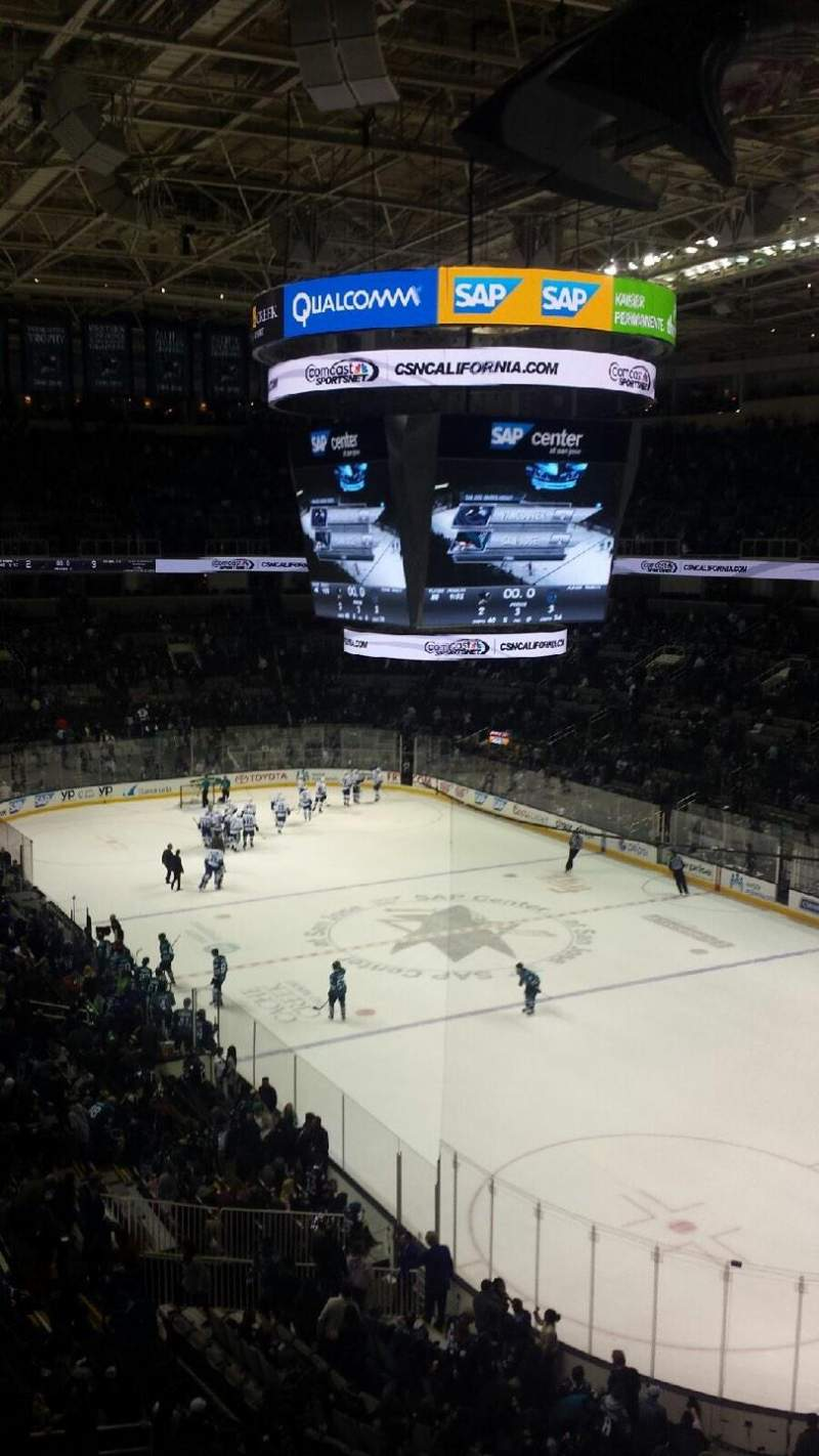 Seating view for SAP Center Section 225 Row 3 Seat 7