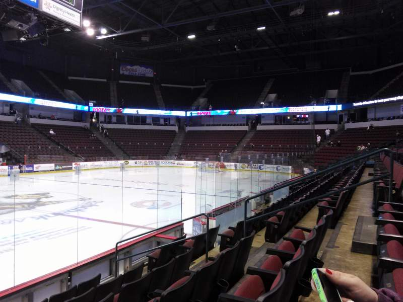 Seating view for Rabobank Arena Section 114 Row F Seat 7
