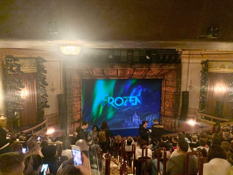 Seating view for St. James Theatre Section Mezzanine L Row P Seat 3
