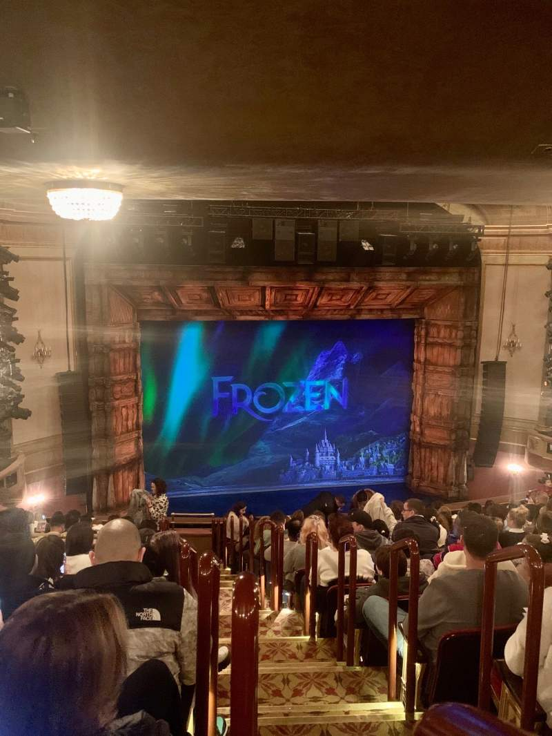Seating view for St. James Theatre Section Mezzanine L Row P Seat 1