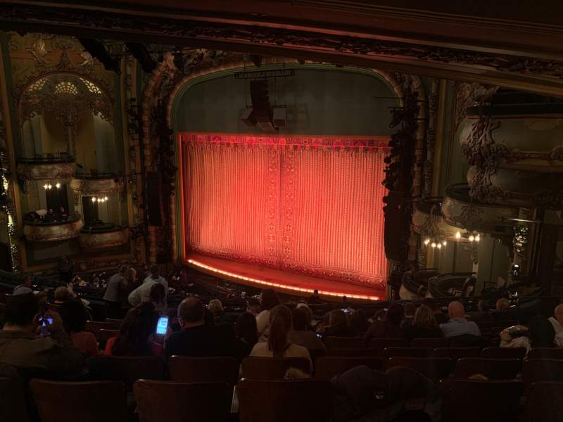 Seating view for New Amsterdam Theatre Section Mezzanine R Row KK Seat 26