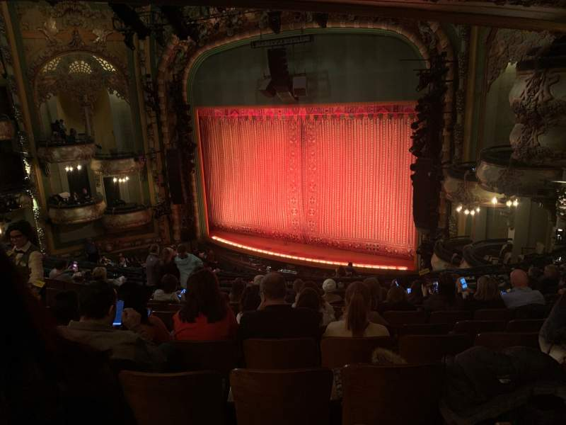 Seating view for New Amsterdam Theatre Section Mezzanine R Row KK Seat 24
