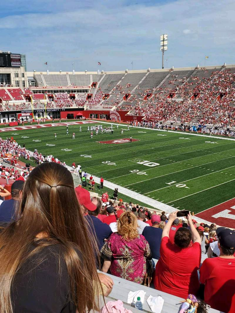 Seating view for Memorial Stadium (Indiana) Section 1 Row 47 Seat 6