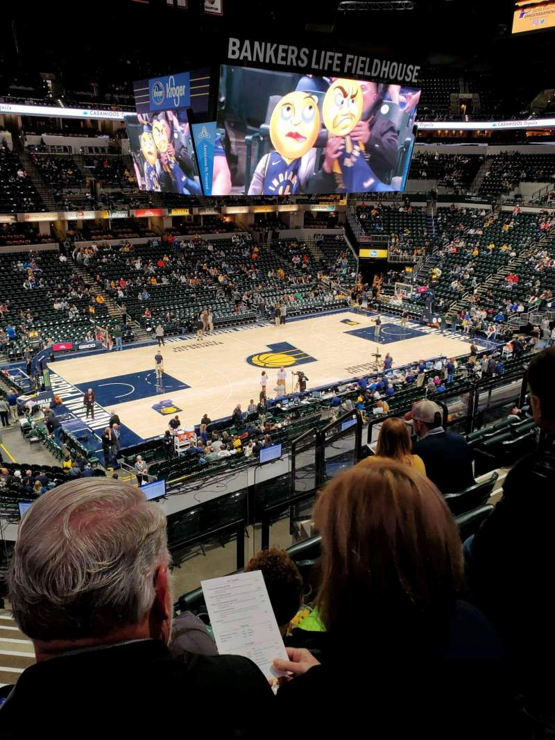 Bankers Life Fieldhouse Section 106 Row 9 Seat 15 Indiana