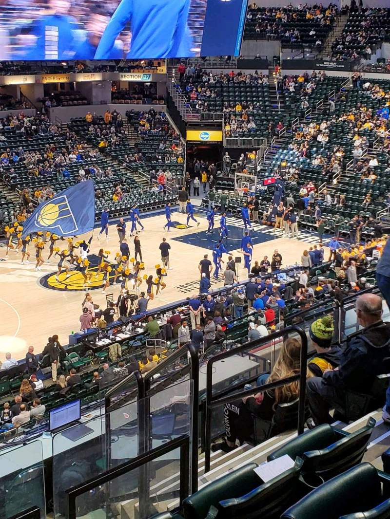 Seating view for Bankers Life Fieldhouse Section 106 Row 9 Seat 15