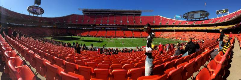 Seating view for Arrowhead Stadium Section 101 Row 29 Seat 9and10