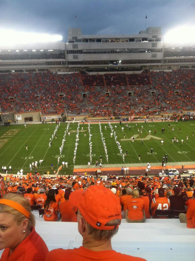 Seating view for Lane Stadium Section 33 Row 4E Seat 10