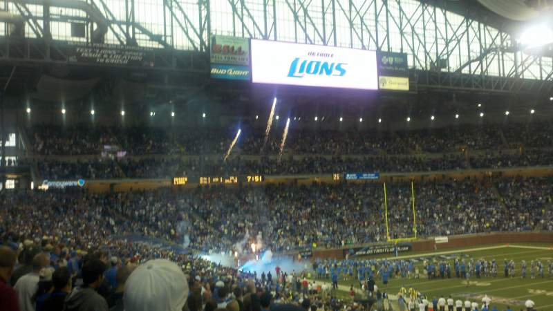 Seating view for Ford Field Section 108 Row 32
