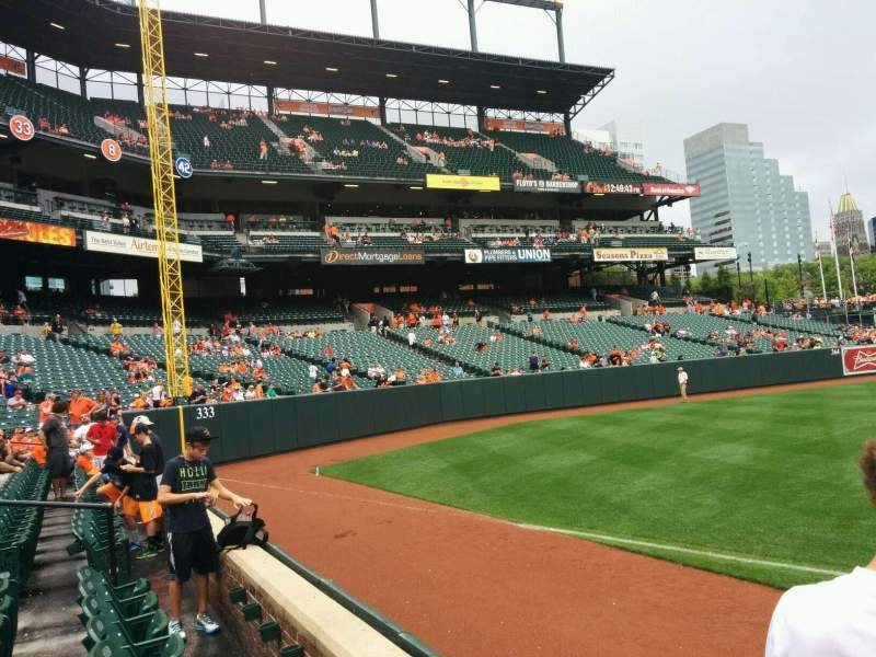 Seating view for Oriole Park at Camden Yards Section 66 Row 2 Seat 4