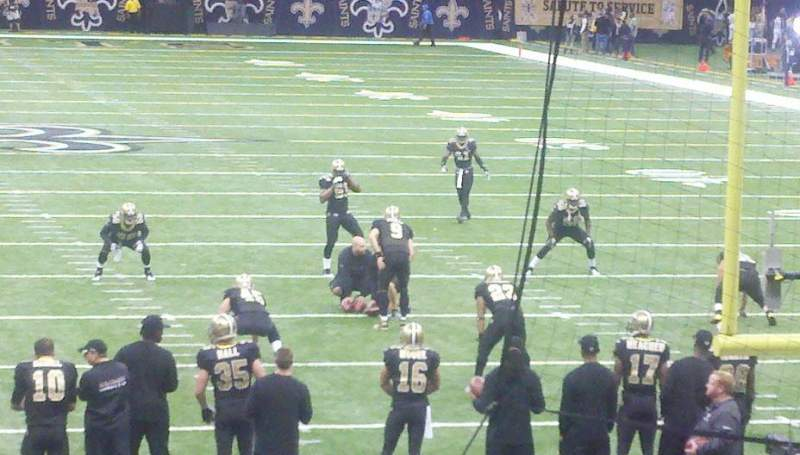 Seating view for Mercedes-Benz Superdome Section 129 Row 16 Seat 7