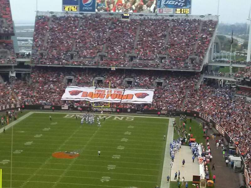 Seating view for FirstEnergy Stadium Section 349 Row 42 Seat 11