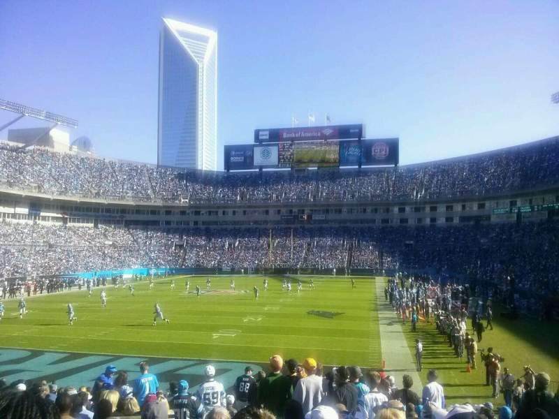 Seating view for Bank of America Stadium Section 139 Row 17 Seat 21