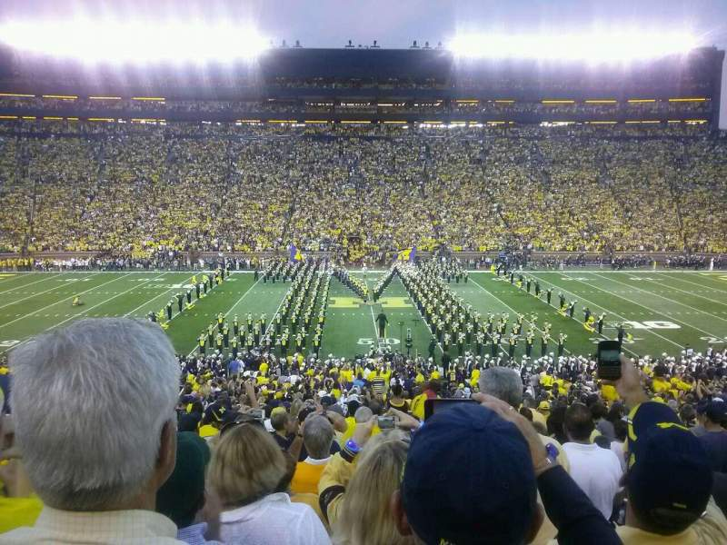 Seating view for Michigan Stadium Section 23 Row 46