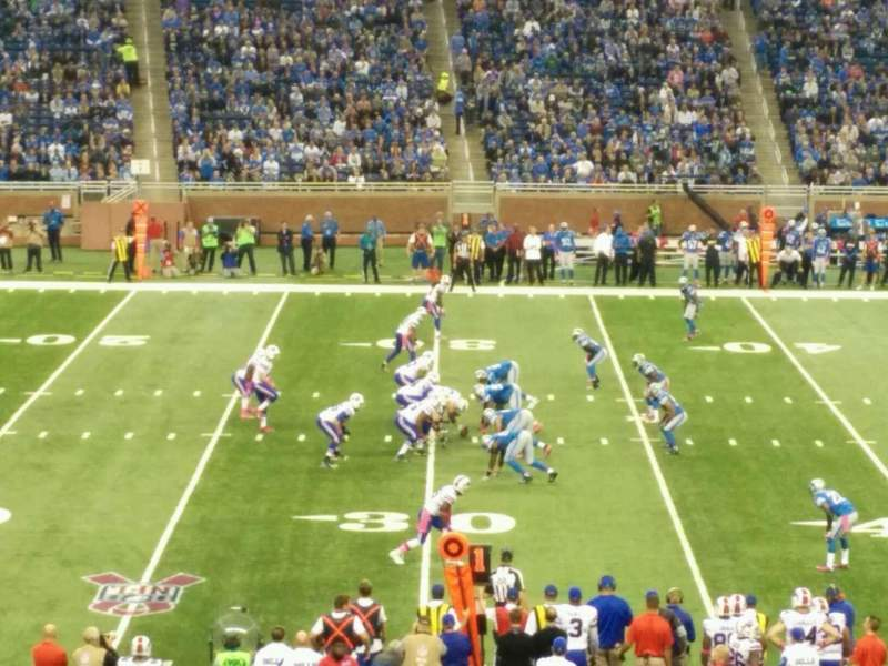 Seating view for Ford Field Section 126 Row 33 Seat 1