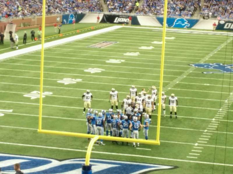 Seating view for Ford Field Section 138 Row 35 Seat 18
