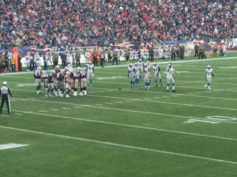 Seating view for Gillette Stadium Section 117 Row 14 Seat 7