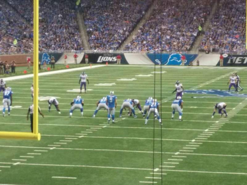 Seating view for Ford Field Section 138 Row 14 Seat 20