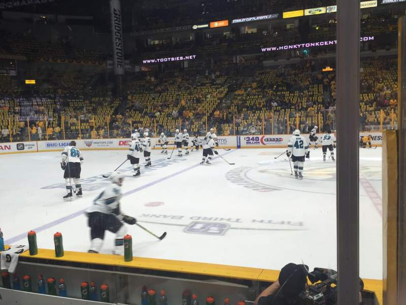 Bridgestone Arena, section: 115, row: DD, seat: 2