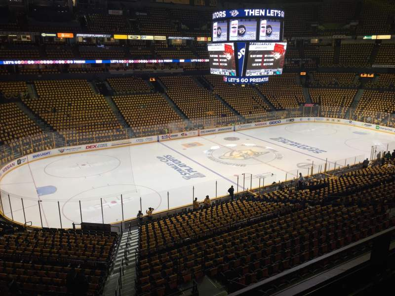 Seating view for Bridgestone Arena Section 213 Row E Seat 15