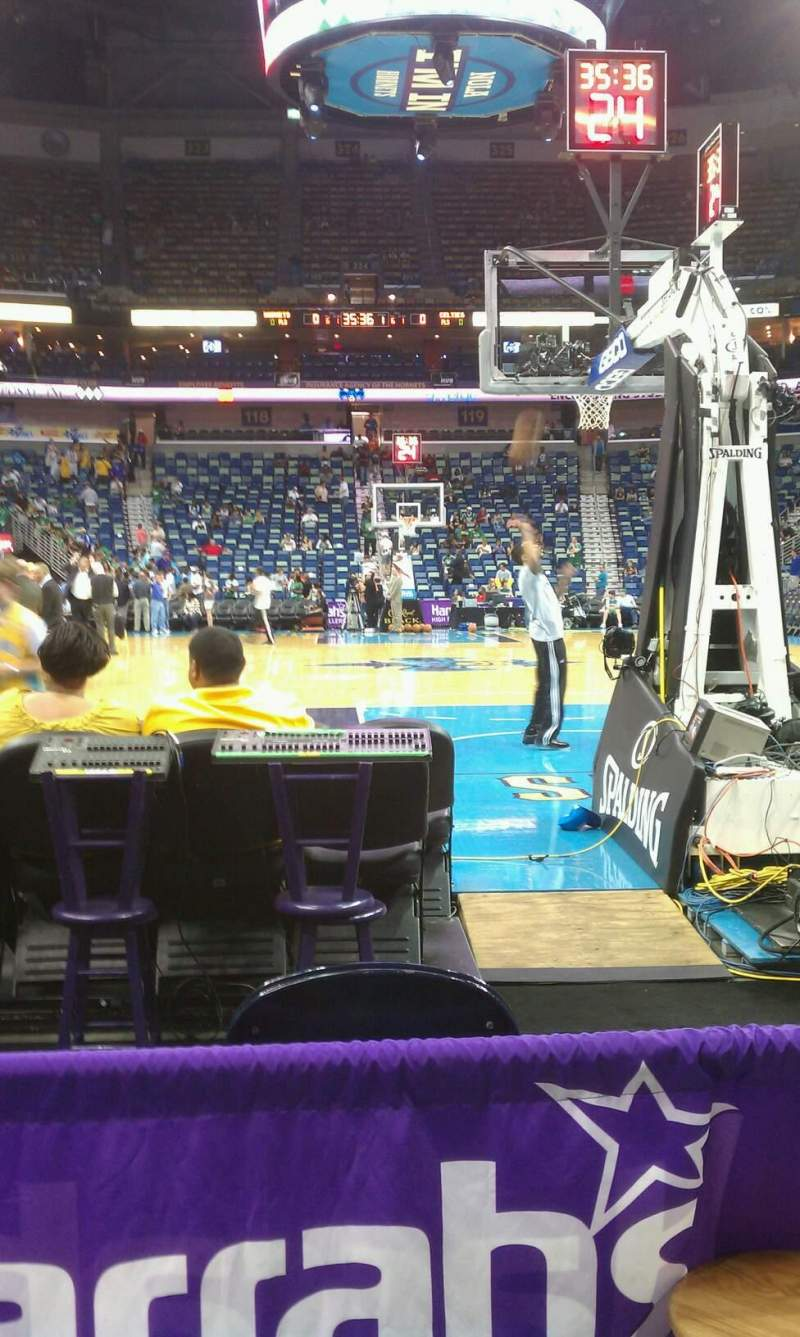 Seating view for Smoothie King Center Section 107 Row 1 Seat 3