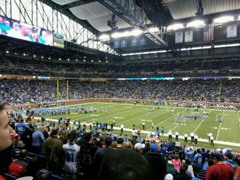 Seating view for Ford Field Section 107 Row 30 Seat 10