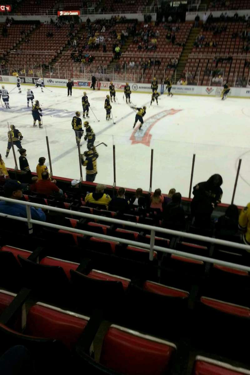 Seating view for Joe Louis Arena Section 120 Row 11 Seat 2
