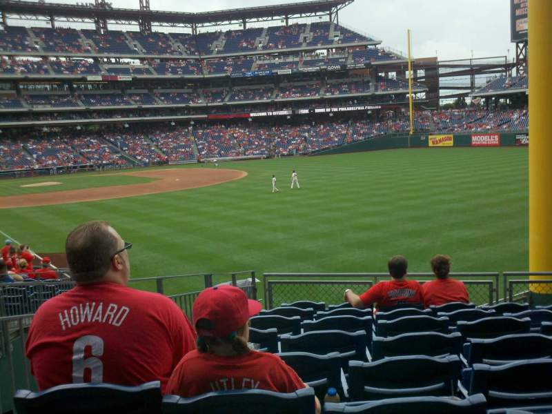 Seating view for Citizens Bank Park Section 107 Row 12 Seat 18