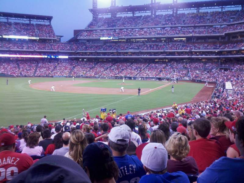 Seating view for Citizens Bank Park Section 138 Row 33 Seat 18