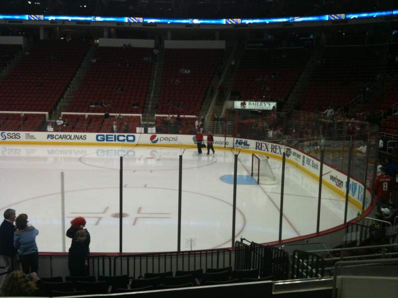 Seating view for PNC Arena Section 101 Row L Seat 3