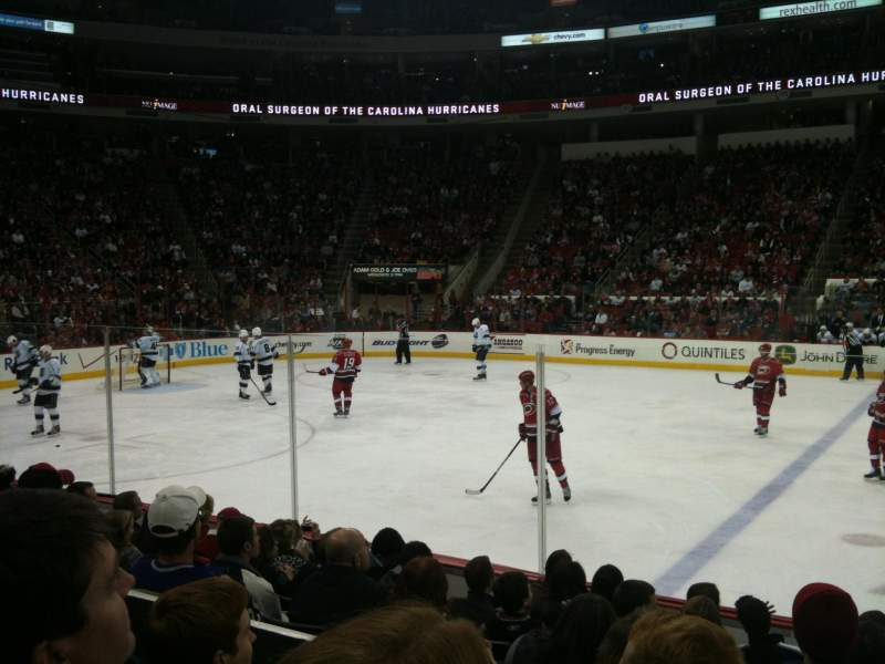 Seating view for PNC Arena Section 120 Row H Seat 1