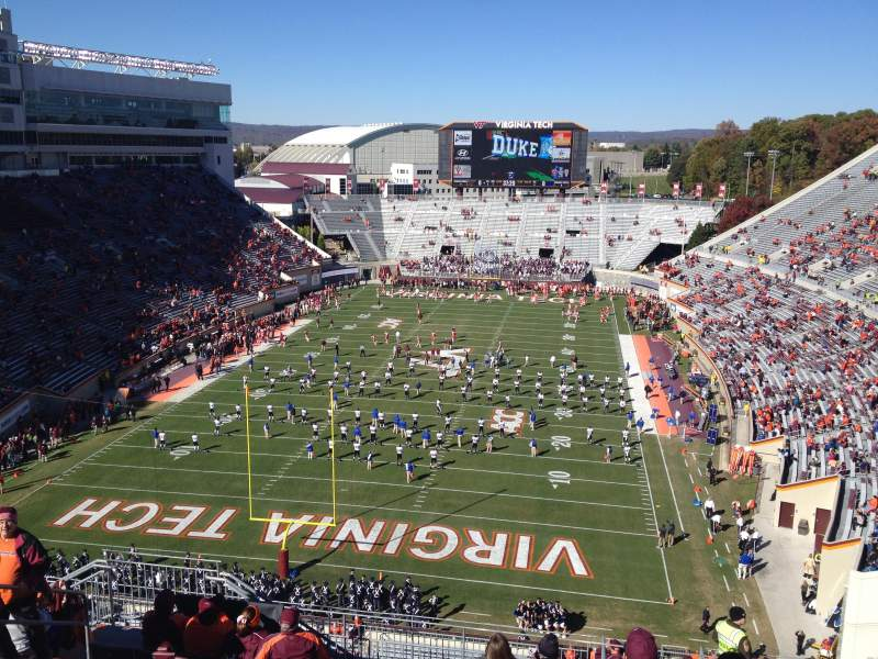 Seating view for Lane Stadium Section 504 Row J Seat 16