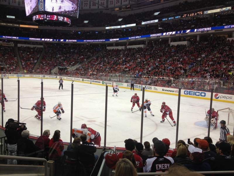 Seating view for PNC Arena Section 129 Row H Seat 9