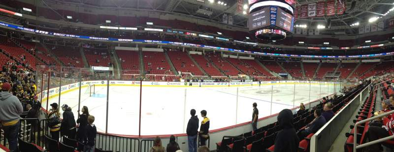Seating view for PNC Arena Section 122 Row G Seat 3