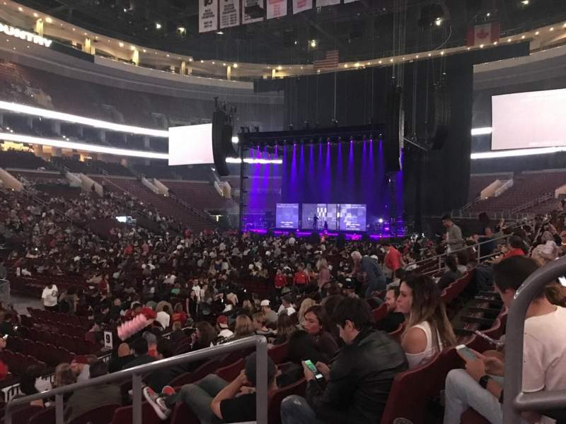 Seating view for Wells Fargo Center Section 110 Row 12 Seat 13