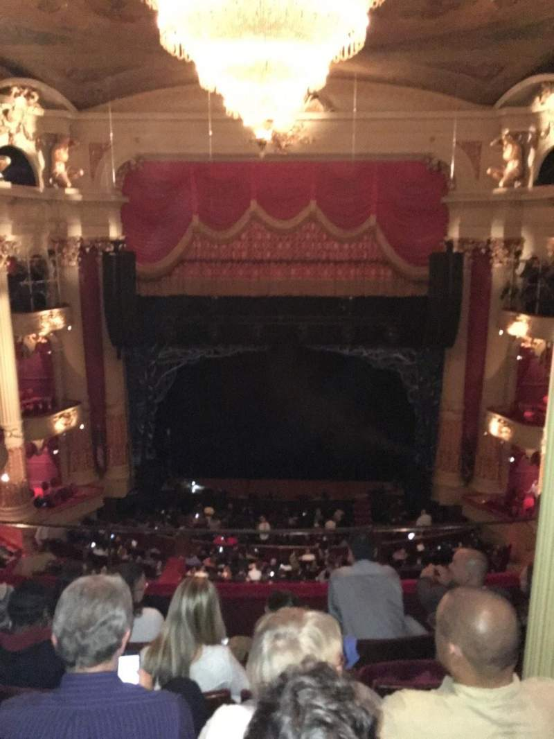 Seating view for Academy of Music Section Family Circle E Row E Seat 106