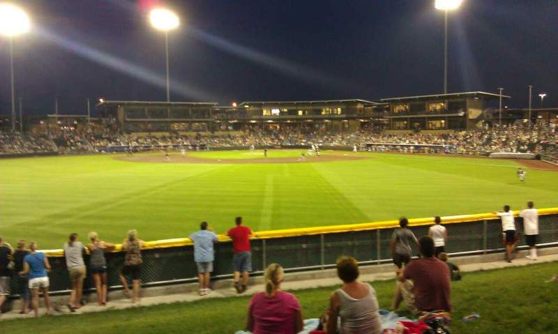 Seating view for Werner Park Section The Berm
