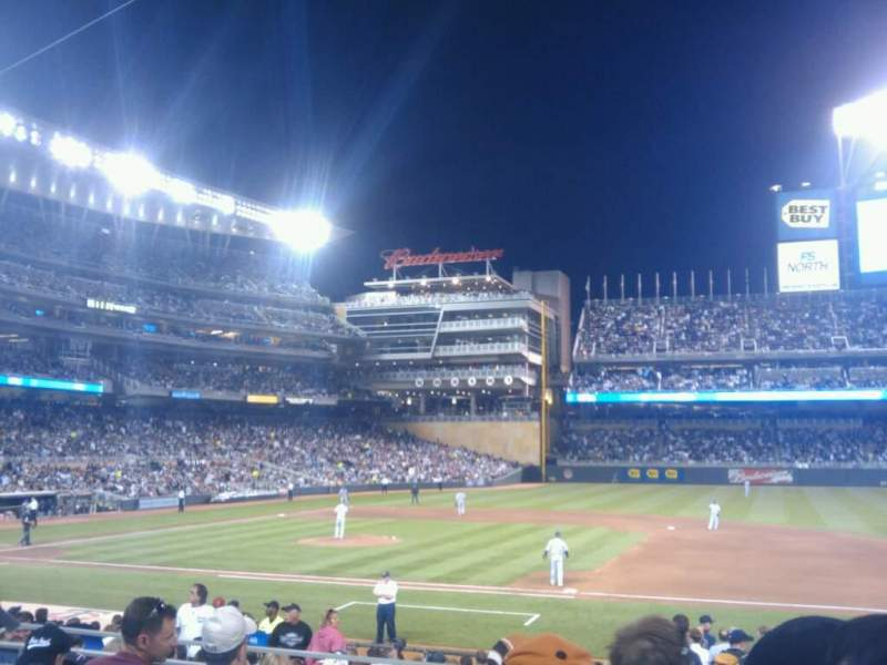 Seating view for Target Field Section 107 Row 13 Seat 12