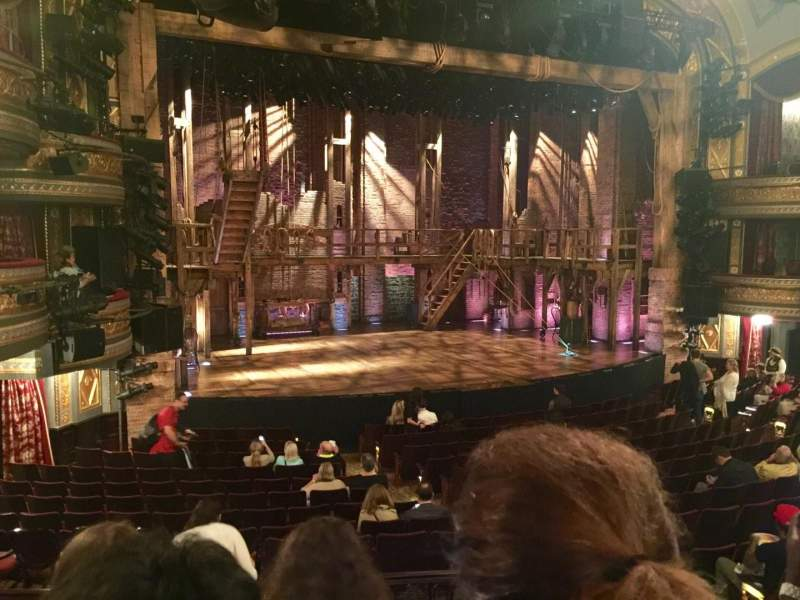 Seating view for Richard Rodgers Theatre Section ORCH Row Q Seat 9