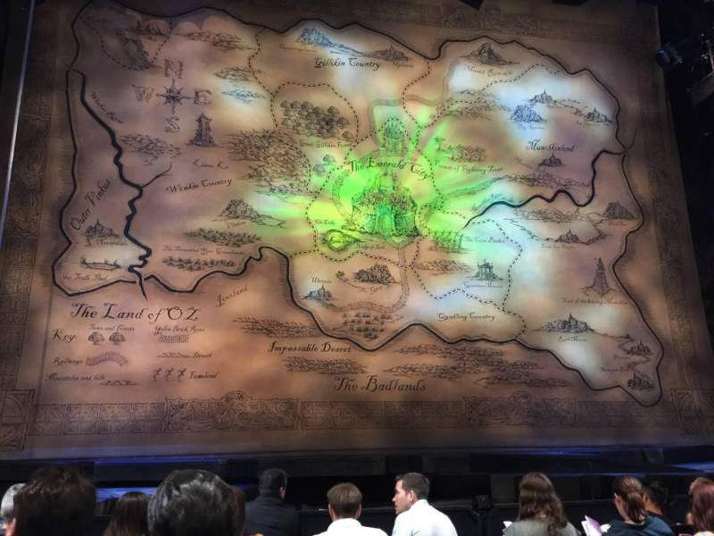 Seating view for Gershwin Theatre Section Orch Center Row B Seat 106