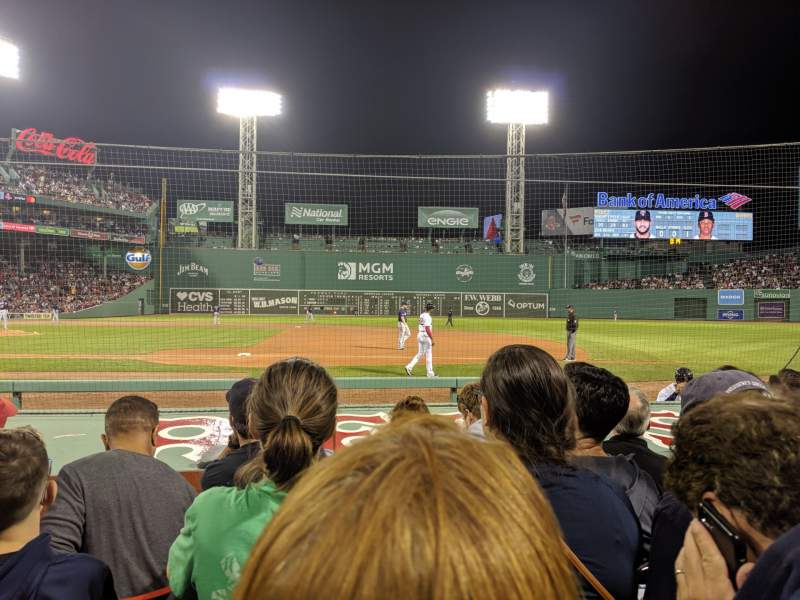 Seating view for Fenway Park Section Field Box 24 Row G Seat 4