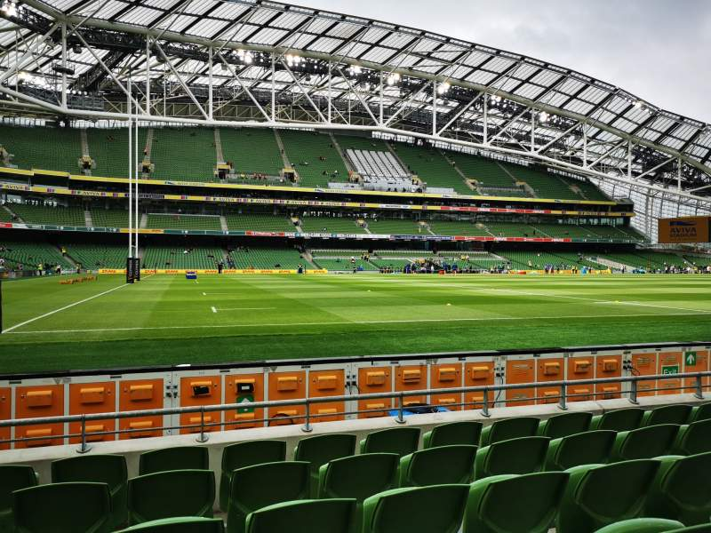 Seating view for Aviva Stadium Section 108 Row F Seat 1