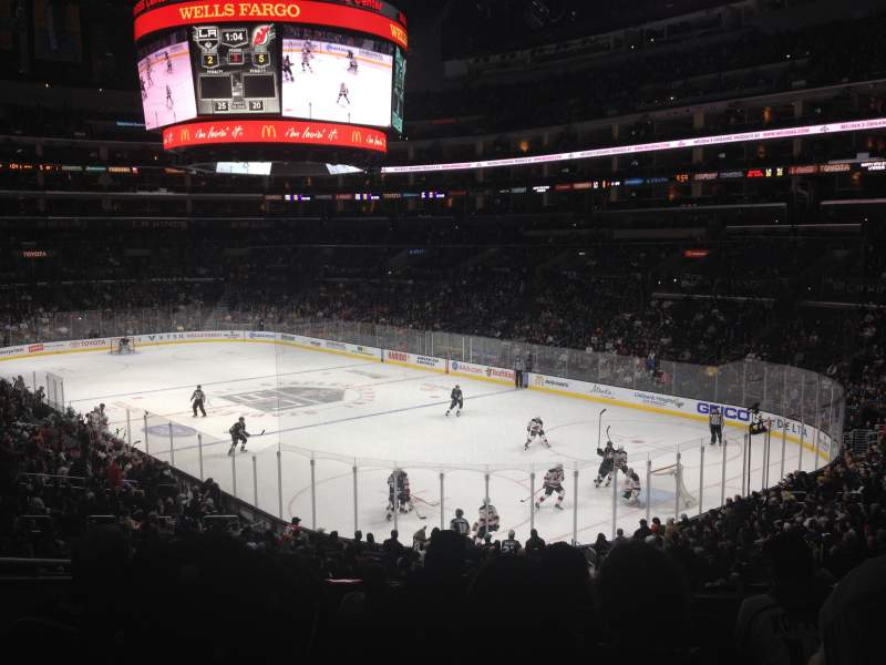 Seating view for Staples Center Section 219 Row 8 Seat 7