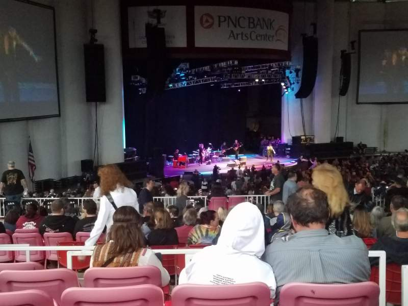 Seating view for PNC Bank Arts Center Section 405 Row J Seat 7