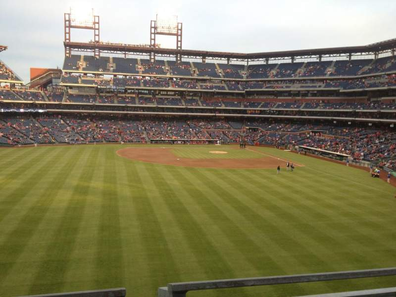 Seating view for Citizens Bank Park Section 244 Row 1 Seat 10