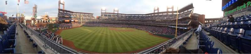 Seating view for Citizens Bank Park Section 244 Row 1 Seat 9