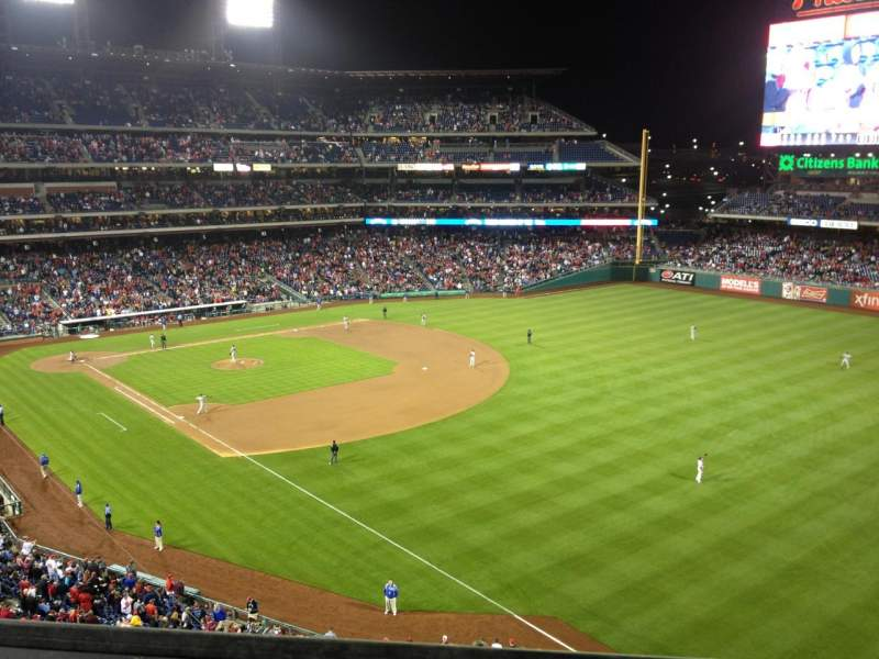 Seating view for Citizens Bank Park Section 308 Row 1 Seat 23