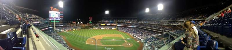 Seating view for Citizens Bank Park Section 325 Row 1 Seat 21