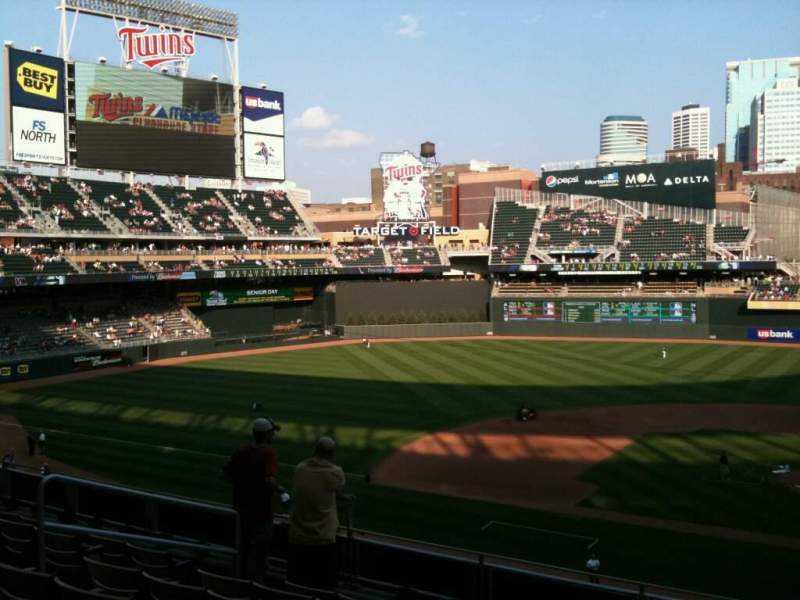 Seating view for Target Field Section M Row 2 Seat 8